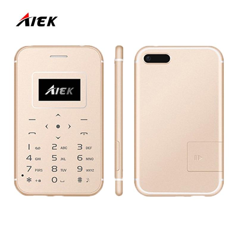 Цена за Новый ультра тонкий карты мобильного телефона aiek/x8 мини карманные студенты личности low radiation aeku для детей поддержка по телефону tf карты