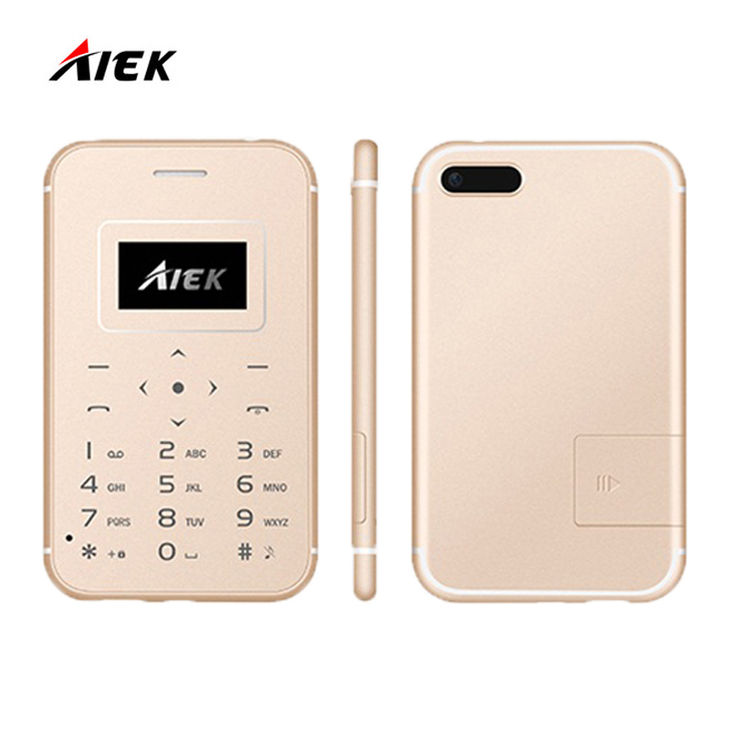 New Ultra Thin Card Mobile Phone AIEK AEKU X8 Mini Pocket Students Personality Low Radiation For