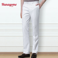 Hanayome Men S Suit Pants Dress Pants Male Casual Long Trousers High Quality Slim Fit Flat