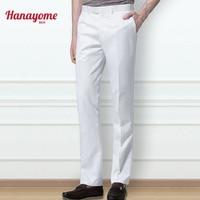 Hanayome Men S Suit Pants Dress Pants Male Casual Long Trousers High Quality Slim Fit Flat