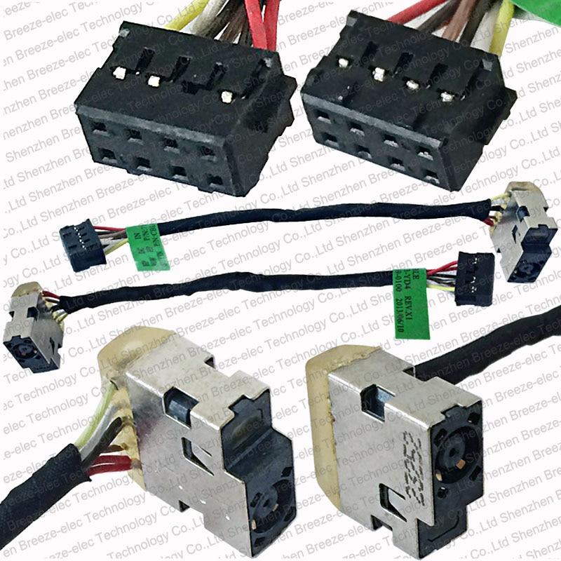 5pcs / lot Brezplačna dostava pristno NOVO prenosni računalnik DC vtičnica in kabelski kabel kabel za HP 15 15-N 715813-YD4 CBL00369-0100