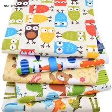 Nanchuang 5Pcs/Lot Printed Cartton Patchwork Fabric DIY Handmade Dolls Sewing Quilting Fat Quarters Materials For Baby&Children