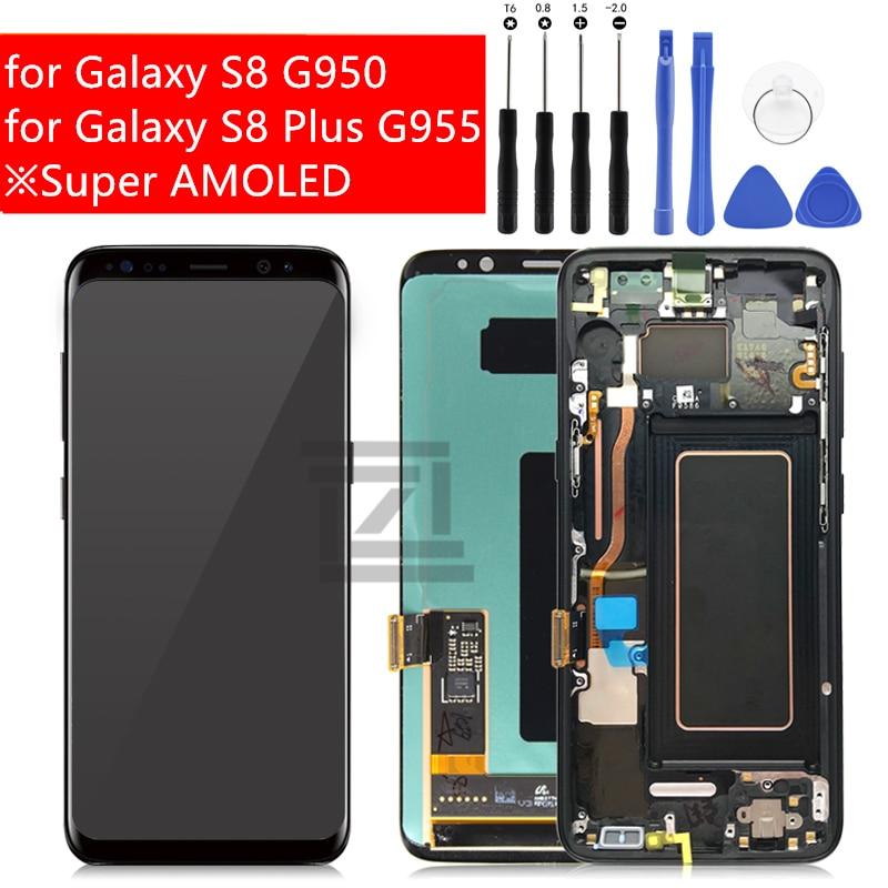 Für Samsung Galaxy S8/S8 Plus LCD Display Touchscreen Digitizer Montage für Galaxy S8 G950/S8 Plus g955 Reparatur Ersatzteile