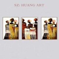 Полотно ручной работы; рисунок художественный плакат абстрактный сексуальный голый палитра нож Масляные картины настенные изображения дл