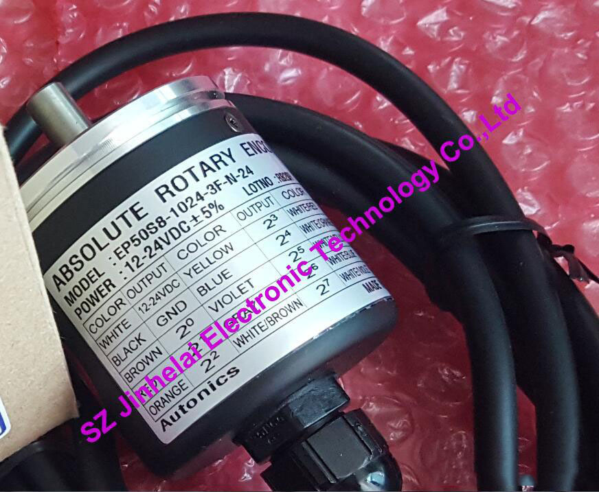 100% New and original EP50S8-1024-3F-N-24 Autonics ABSOLUTE ROTARY ENCODER e40s6 1024 6 l 24 e40s6 2000 3 t 24 new and original autonics incremental rotary encoder 12 24vdc