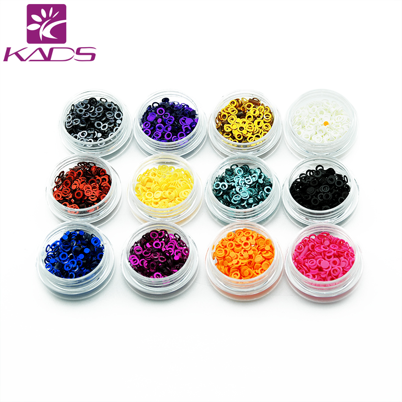 KADS12pots/set 12 Colors 3mm Hollow Round Dazzling & 2mm Wafer Design Nail Art Shinny Glitter Cute Nail Art Decoration gd4 1 20g bag cute laser black star nail art shinny glitter cute decoration nail art decoration