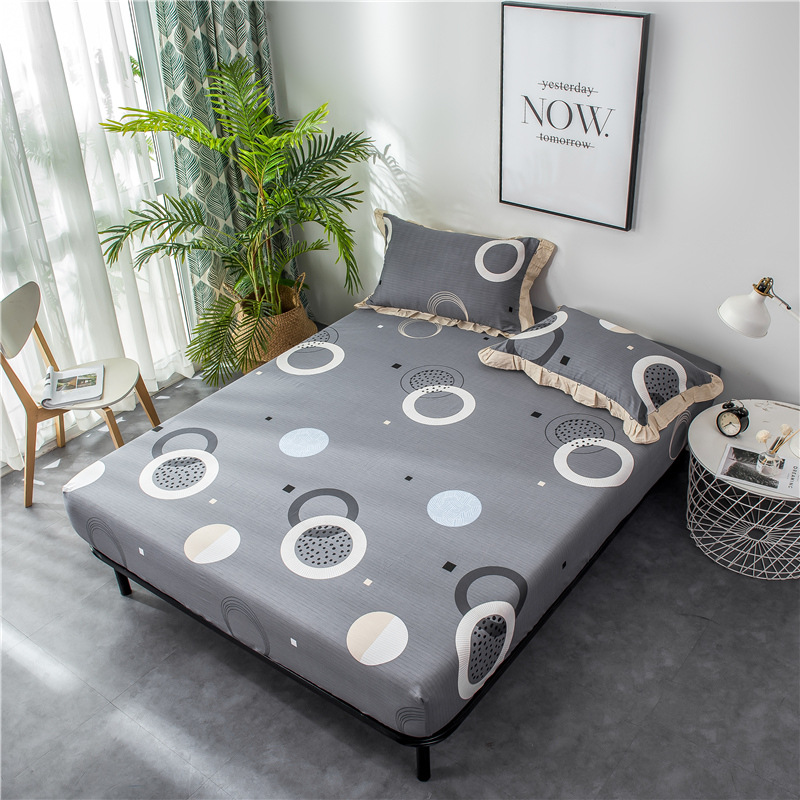 Bedding Cotton printing Single Bed cover Spring bed protective case All inclusive Mattress cover Elasticity 1.8m bed sheet