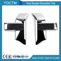 Front Bumper Decoration Trim For Ford F150 2015 2016 2017 Automotive Exterior Accessories Car Styling Stickers 2pcs Red/Chrome