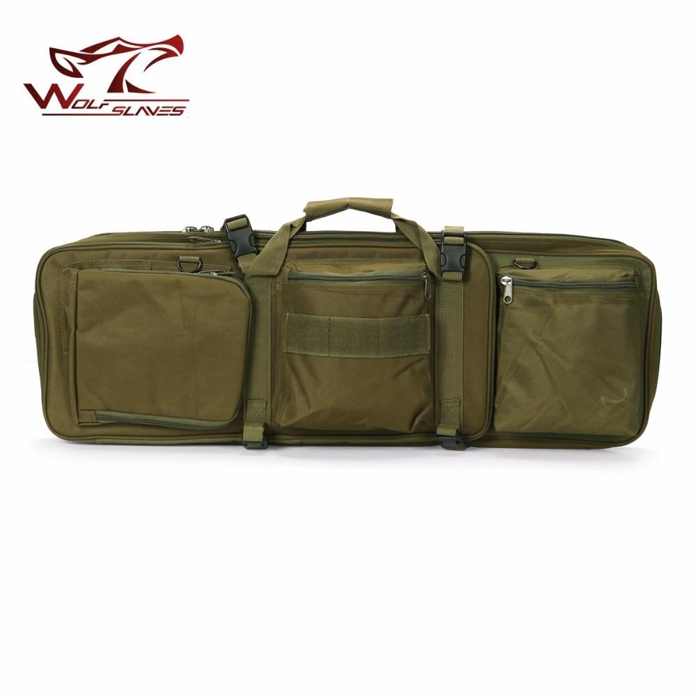85CM tactique lourd glisser portant double mallette à fusil pistolet sac pour M4 chasse Airsoft militaire épaule poche sac à dos de pêche - 3