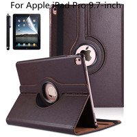 360 Degree Rotating PU Leather Smart Cover Case For Apple IPad Pro 9 7 Inch 2016