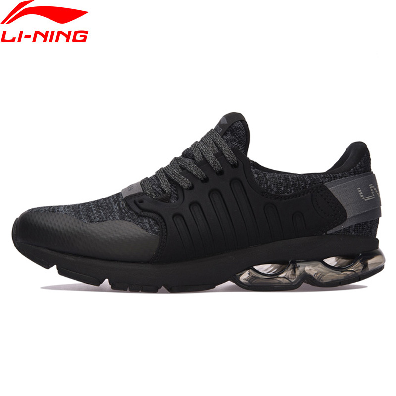 Li-Ning Men BUBBLE ARC Cushion Running Shoes Wearable Anti-Slippery LiNing Sport Shoes Breathable Sneakers ARHM091 XYP592 li ning professional badminton shoe for women cushion breathable anti slippery lining shock absorption athletic sneakers ayal024