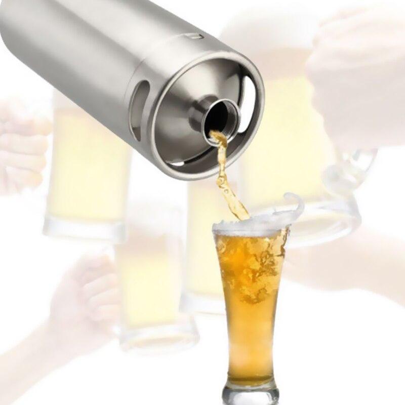 4L พรีเมี่ยมสแตนเลสสตีล Homebrew Growler Mini Keg เบียร์ Growler Leak Proof ฝาปิดขวดเบียร์บ้านทำบาร์เครื่องมือ-ใน การกลั่นเบียร์ จาก บ้านและสวน บน AliExpress - 11.11_สิบเอ็ด สิบเอ็ดวันคนโสด 1