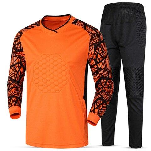 Soccer sets goalkeeper jerseys men football Survetement tracksuit goal keeper uniforms goalie sports training pants DIY Custom Karachi