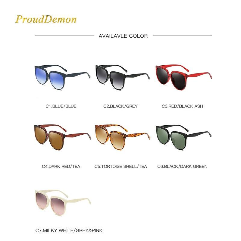 2019 Prouddemon Brand classic gradual Sunglasses Women Vintage Ladies Big Frame Sun Glasses Female Male Fashion Oculos UV400 in Women 39 s Sunglasses from Apparel Accessories