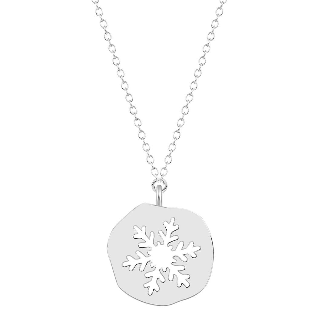 Shunyun 1 pc Fashion Jewelry Female Wedding Alloy Snowflake Choker Necklace Sweater Chain Pendant Necklace Christmas Gift