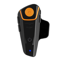 Waterproof Moto Helmet Bluetooth Wireless Headset Motorcycle bluetooth intercom for motorcycle with FM