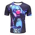 2017 Летние Фильмы Suicide squad Мужчины Женщины 3D майка печатных Harley Quinn джокер deadshot футболка повседневная Топы tee бесплатная доставка