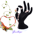 Mannequin Hand Finger Model Necklace Jewelry Glove Ring Bracelet Chain Display Stand Holder Showcase OK Design Black Velvet Form
