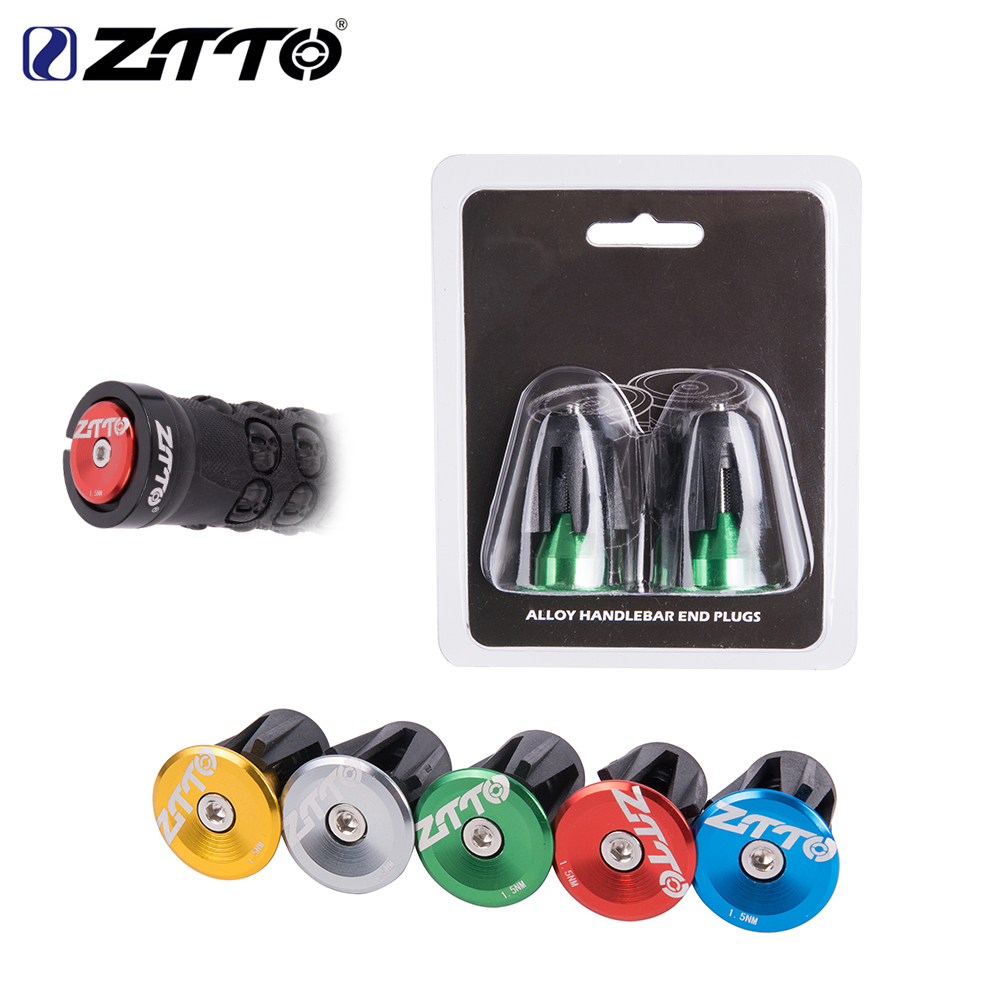 MTB Road Bicycle Handlebar End Plugs Handlebar Caps Aluminum alloy Handle Grip Bar End Stoppers road mountain bike mtb bar end aluminum alloy folding bicycles handlebar handle bar ends
