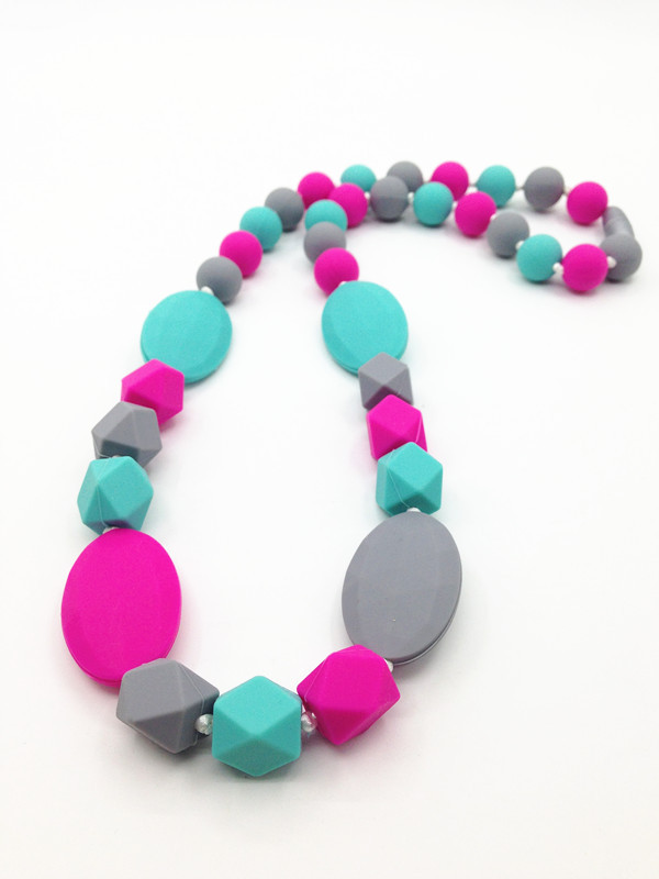 Bpa Free Food Grade Silicone Teething Necklace Baby Safe Mom Nursing Jewelry In Chain Necklaces From Accessories On