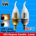 360 graus E14 led fonte de luz da lâmpada de cristal E14 luz ouro lâmpada lâmpada lâmpada de prata branco frio branco quente livre grátis