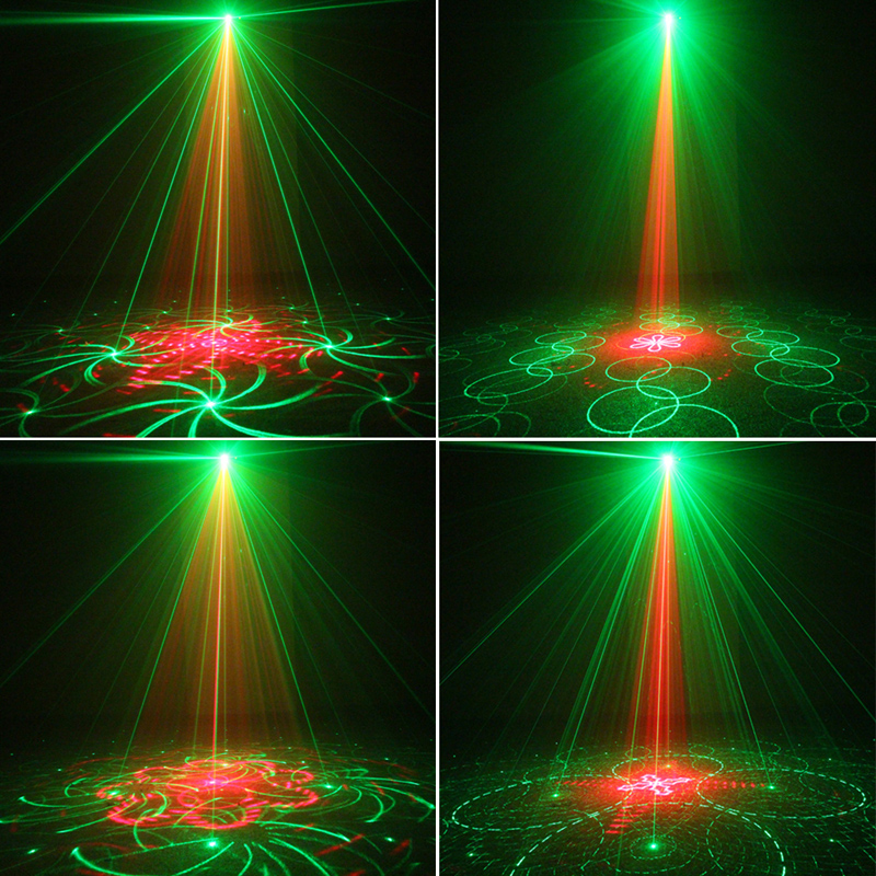 3 Lens 40 Patterns RG Laser BLUE LED Stage Lighting DJ show Light Party Bar Light US Plug