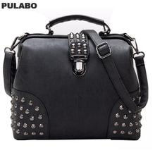 Rivet Women Handbag Punk Women Messenger Bags Large Capacity Women Bag Luxury Handbags Cross-Body Tote Bags PU Leather Bag