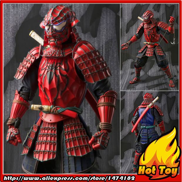 100% Original BANDAI Tamashii Nations Meishou MANGA REALIZATION Action Figure - Samurai Spider-Man 100% original bandai tamashii nations s h figuarts shf action figure spider man homecoming