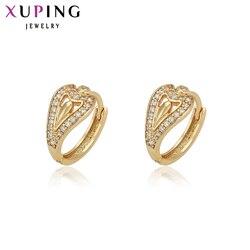 Xuping modne kolczyki Korea Style złoty kolorowy platerowany wysokiej jakości dla kobiet biżuteria świąteczne prezenty 29378