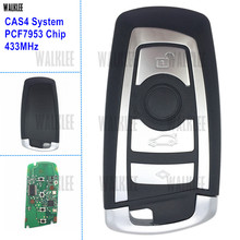 WALKLEE Smart Key 4BT fit for BMW CAS4 CAS4+ 433MHz with PCF7953 Chip Car Remote Key