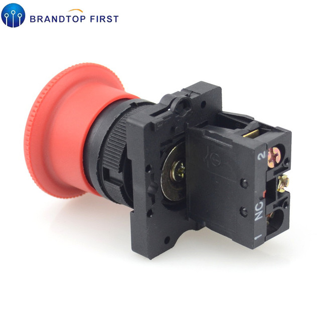 Red NC 22mm Emergency Stop Mushroom Push button switch XB2-ES542 Control electrical starter switch 220V 10A