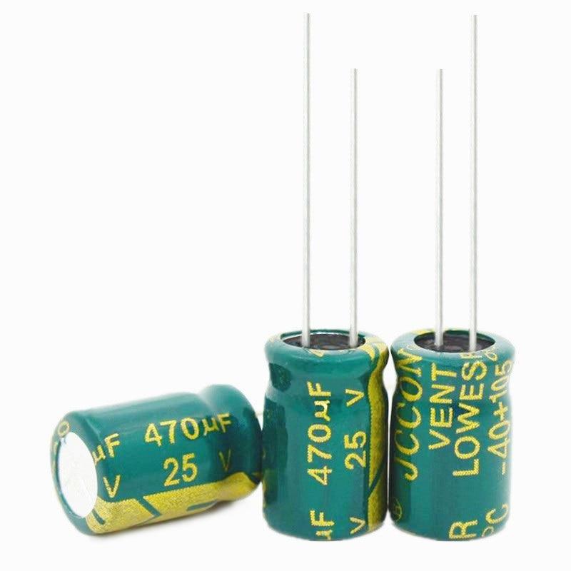 25V 470UF 470UF 25V    Electrolytic Capacitors Size:8*12 Best Quality