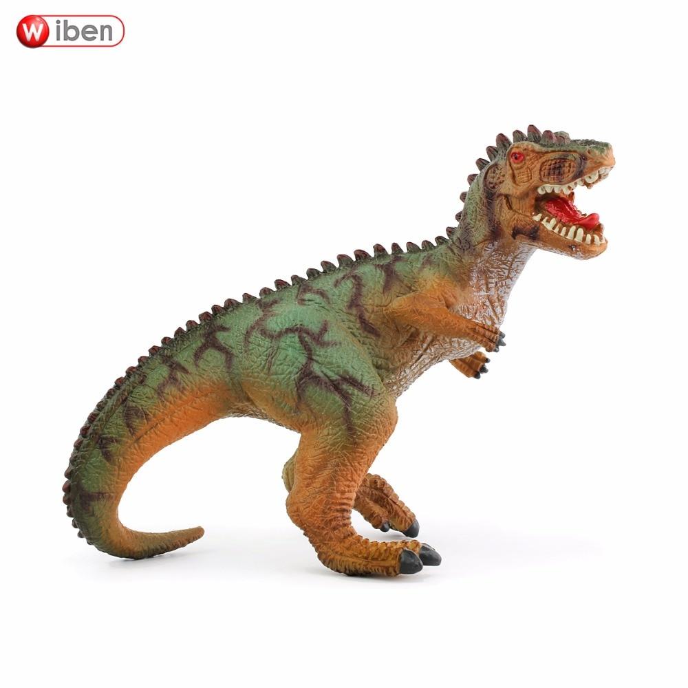 Wiben Jurassic Giganotosaurus Rīcības un rotaļu figūriņas Dzīvnieku modeļa kolekcija Spilgts roku apgleznots suvenīrs Plastmasas rotaļlieta Dinozaurs