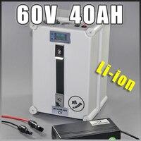 60 v 40AH bateria de iões de lítio Portátil Multi-função 60 v bateria plugue à prova d' água