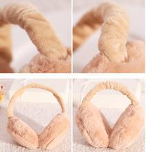 50x Plush Female Winter Earmuff Warm Ear Muffs Headphones Girls Earmuffs Music Earphones Faux Fur Headphones