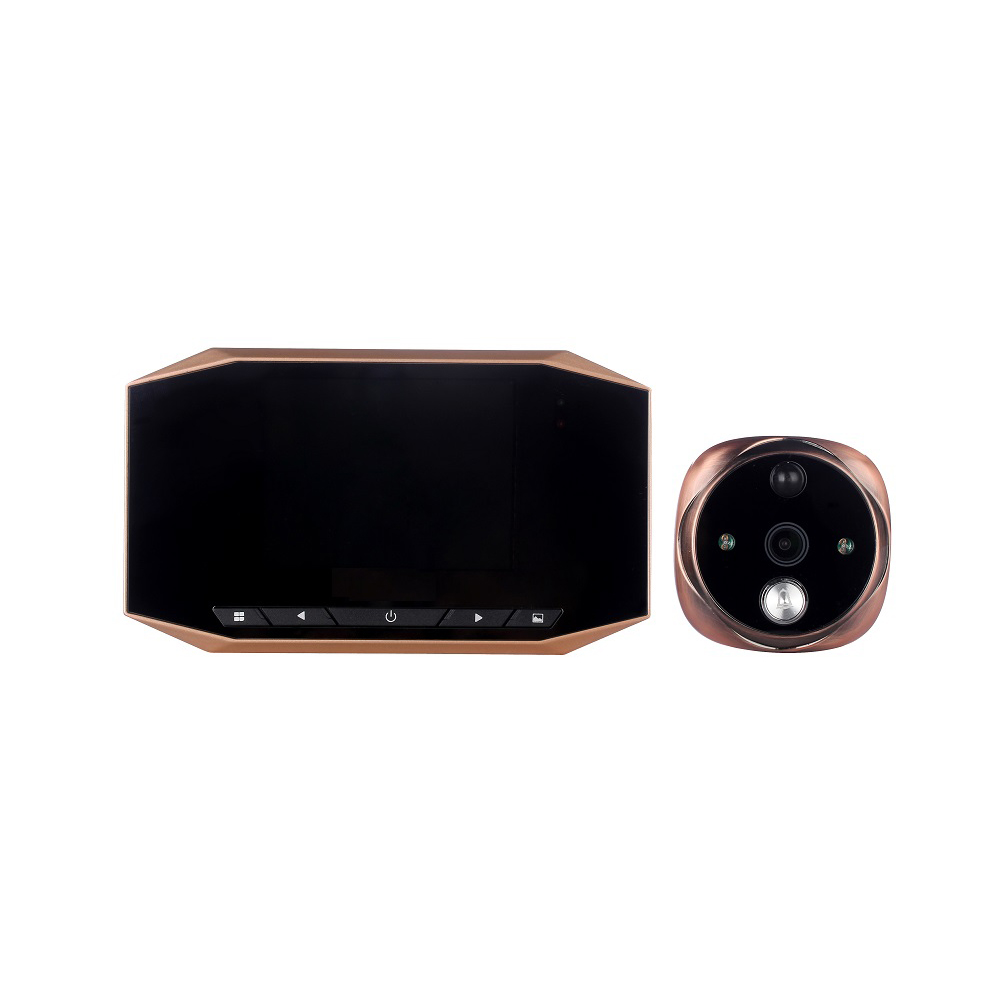 (1 Set)3.5 inch TFT LCD Monitor Peephole Security Camera Night version use battery Home Garden Door Phone Smart Doorbell SD card