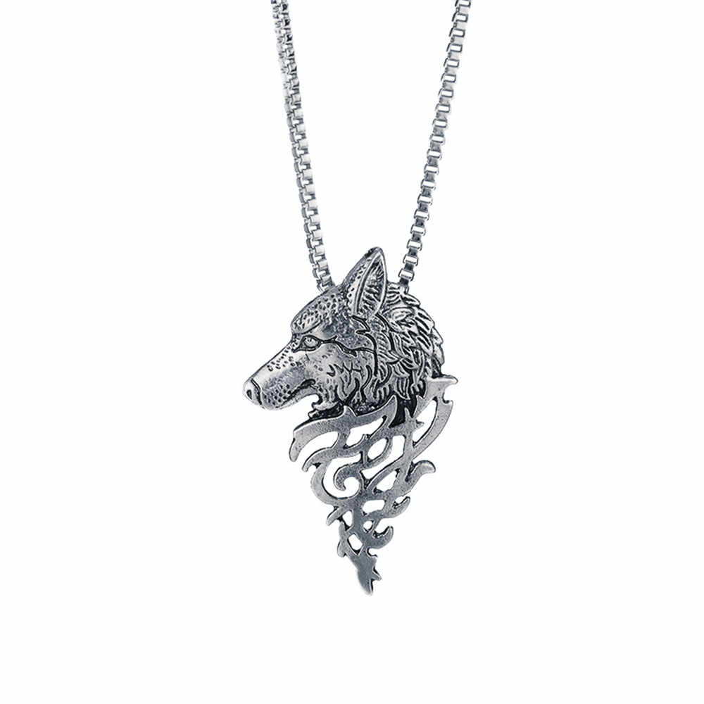 Fashion Wolf Head Shape Alloy Necklace Choker Ornaments Pendant Fashion Jewelry Gift Necklace Trinket Torque Choker Jewelry @3