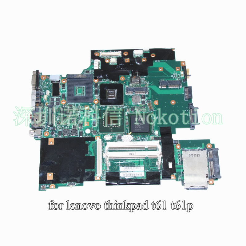 NOKOTION 42W7876 44C3928 for lenovo IBM thinkpad T61 T61P laptop motherboard 965PM DDR2 15.4 Inch 128M graphics neworig keyboard bezel palmrest cover lenovo thinkpad t540p w54 touchpad without fingerprint 04x5544
