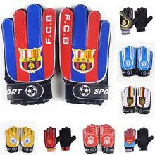 Детские/взрослые FCB футбольные фанаты перчатки Вратарь Перчатки Нескользящие PU футбольные перчатки для мальчиков защита от пальцев