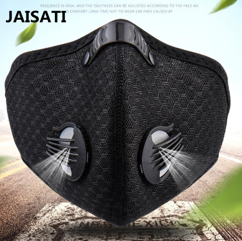 JAISATI Riding bike cold sports wind and haze PM2.5 masks anti-haze dust breathable comfort dust mask outdoor sports bike face mask filter air anti pollution for bicycle riding traveling dustproof mouth muffle