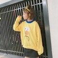 Женщины Корейский Новый Осень Зима Толстовка Милый Маленький Желтый Утка Розовый Свободные О-Образным Вырезом Толстовки Harajuku Стиль Случайные Кофты