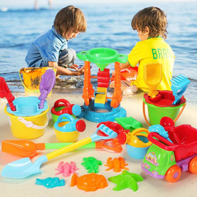 Summer Children's Beach Toy Car Set Baby Play Sand Digging Sand Shovel Tool Girl Boy Toy For Baby Best Gifts(Random Color)