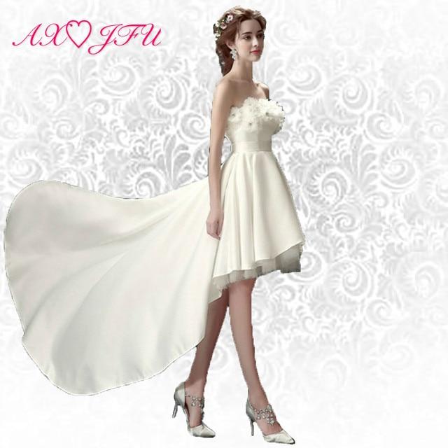 Axjfu Strapless Korean Short Long Before After Princess White Turkey