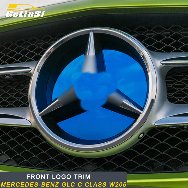 Gelinsi pour Mercedes Benz classe C W205 Auto avant Logo autocollant garniture accessoires