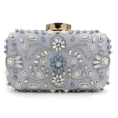 2017 Women floral print Rhinestone Evening Clutch Bags Ladies Day Clutches Purses Chain Handbags Bridal Wedding Party Bolsas red retro 2017 floral beaded handbag women shoulder bags day clutch bride rhinestone evening bags for wedding party clutches purses