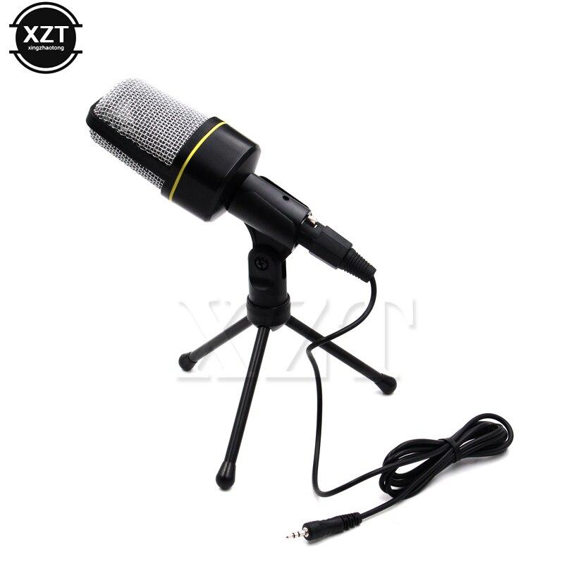 Micrófono unidireccional de sonido profesional, alta calidad, con soporte para PC, portátil, Skype, compatible con cantar y chatear