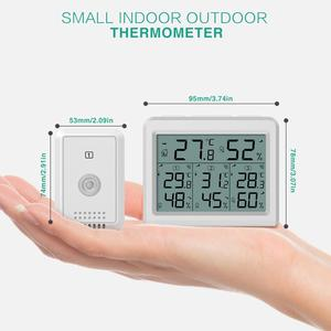 Image 5 - ORIA מדדי לחות מדחום דיגיטלי LCD מדחום מקורה חיצוני אלחוטי חיישן טמפרטורת לחות צג שלט רחוק