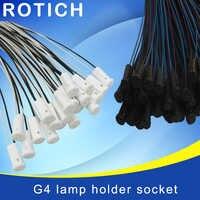 10pcs Trasporto libero, di alta qualità 57 CENTIMETRI di Cristallo supporto della lampada zoccolo del supporto della lampada, g4 led/G4/spina lampadina, 12V 10-20 W, accessori per l'illuminazione