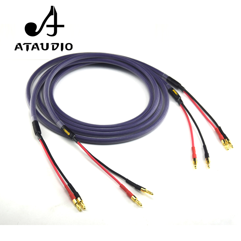 ATAUDIO Hifi Speaker Wire Hi end Amplifer Speaker Interconnection Fever Speaker Cable