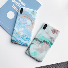Awesome Waves style marble phone cover funda for iPhone 7 case For Apple iPhone X XS MAX 8 plus 6 6s plus iphone 6s slim case sea waves